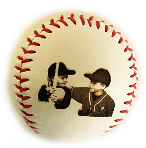 Synthetic Leather Baseball (Custom Customized Personalized Synthetic Leather Baseball Gift - Your Picture Engraved)