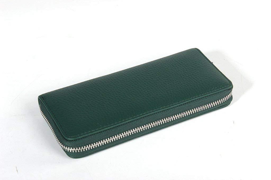 2 Soft Women's Leather Wallets RFID Blocking Vintage Design Large Capacity Handbag (color    3)