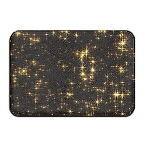 Luz brillante estrellas puerta alfombrillas alfombrillas de al aire libre