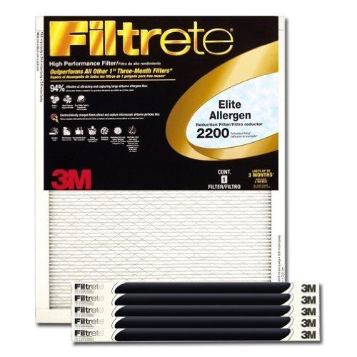 (Filtrete Healthy Living Elite Allergen Reduction HVAC Air Filter, Uncompromised Airflow, Captures Fine Inhalable Particles, MPR 2200, 16 x 20 x 1,)