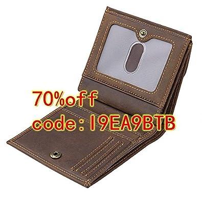 BAIGIO Slim RFID Blocking Leather Card Case Wallet Bifold Money Clip 5483156-CA