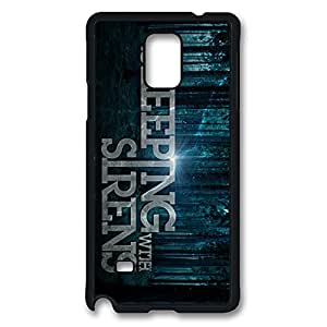 Printed Image for Sleeping With Sirens Shock Resistant Hard Plastic Case Snap-on Cover with Design for Samsung Galaxy Note 4 -Black052808
