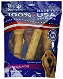 Pet Factory 78256 Made in USA Value Pack Assorted Flavored (Beef & Chicken) 8-9 Beefhide Chews for Dogs