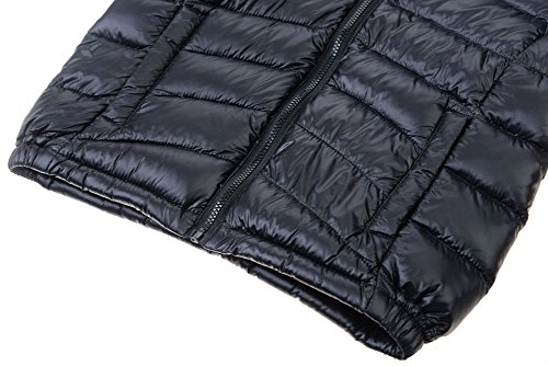 M2C Boys & Girls Ultralight Hooded Duck Down Puffer Packable Jacket 5T Black by M2C (Image #4)