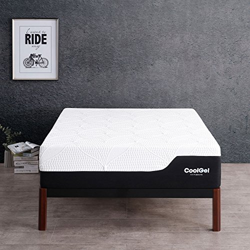 Classic Brands Cool Gel 2.0 Ultimate Gel Memory Foam 14-Inch Mattress with BONUS 2 Pillows, California ()