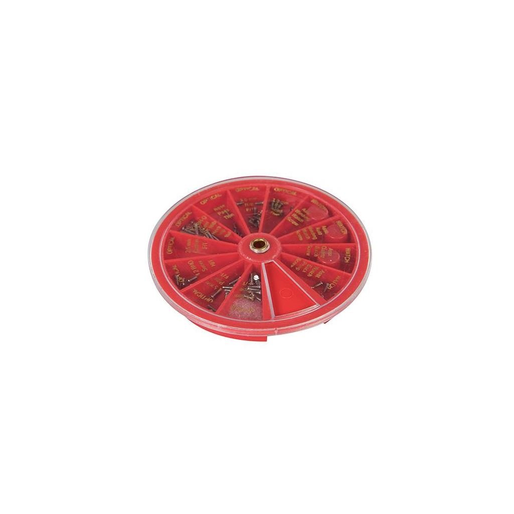 Silverline 474416 Surtido de 120 tornillos para relojero/ó ptica, multicolor