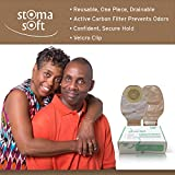 Stoma Soft One Piece with Velcro Closure, Drainable