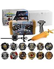 MLYWD Beyblades, gyroskop, snabb rotation, kampsnurror/sportsnurra/explosiv snurror, lämplig för barnleksaker och förälder-barn tid (med sändare) leksak 12 snurrande 5 tillbehör