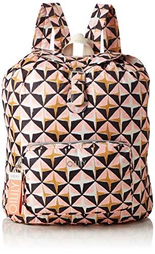 Oilily Enjoy Geometrical Backpack Lvz, Bolsos mochila Mujer, Rosa (Rose), 13x40x30 cm (B x H T)