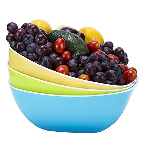 Plastic Bowls, Set of 3 (Large)