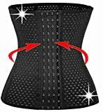 KissFit 6 Pcs Steel Boned Waist Trainer Hot Cincher Promotes Tummy Control for Hourglass Quick Weight Loss