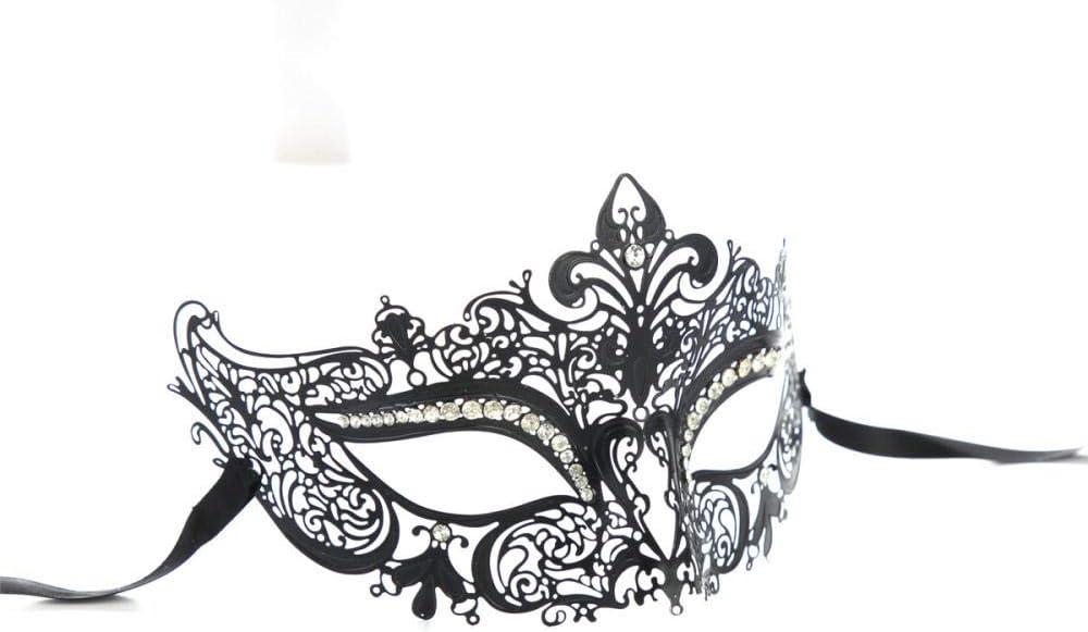 WENJZJ Máscara de Halloween Carnaval, Carnaval de Metal Elegante ...