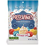 Red Vines Birthday Cake Licorice Twistettes 4.8oz Bag (12 Pack)