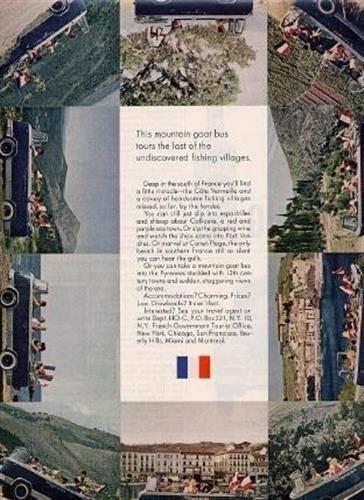 1963 TRANSCAR Ad France Amphibious Automobile