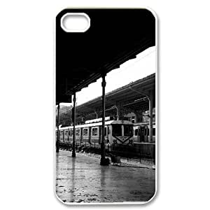 Train Station Black and White IPhone 4/4s Case, Case for Iphone 4s for Men Unique Design Dustin - White