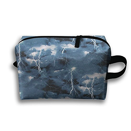 SO27Tracvel Landscape Medley Thunder Storm Toiletry Bag Dopp Kit Tactical Bag Accessories Travel Case