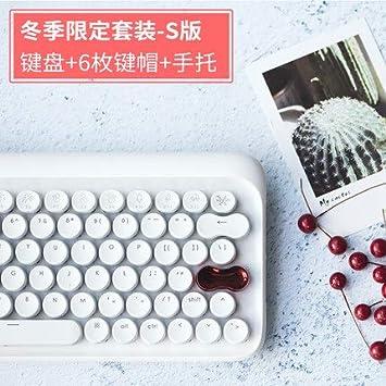 Teclado para Tableta Bluetooth mecánico inalámbrico Retro teléfono móvil ipadmacete Verde Eje máquina de Escribir -I: Amazon.es: Electrónica