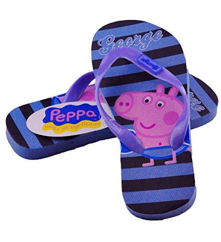 Peppa Pig Offizielles George Pig Flip Flops Hausschuhe Neu Kinder Schuhe George Design 2