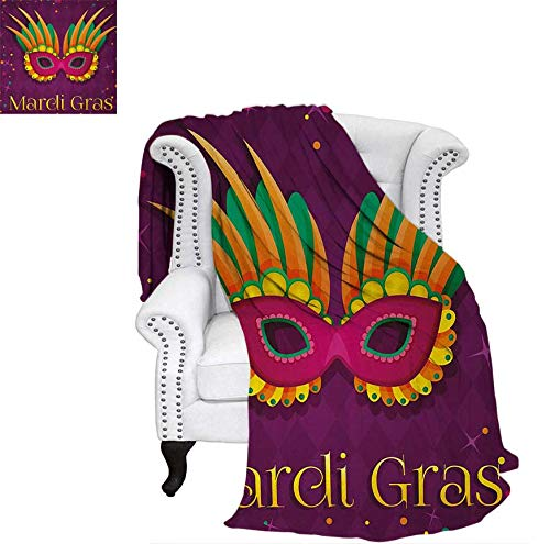 Amazon.com: Digital Printing Blanket Festival Mask Design on ...