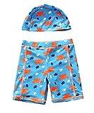 Happy Cherry Toddler Baby Boys Swimsuit One/Two Piece UPF 50+ Printed Swimwear Sunsuit