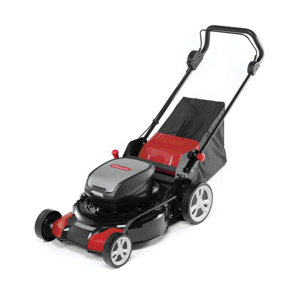 Oregon 591080 LM400 Cordless Lawnmower, Red Black