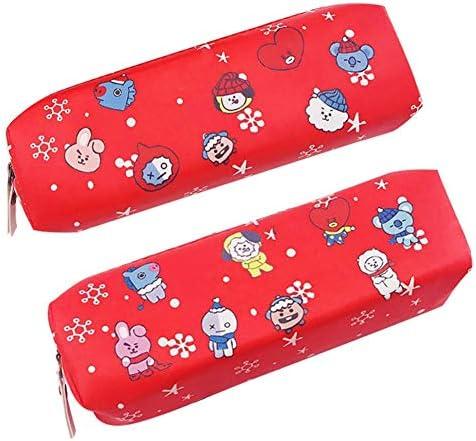 Youyouchard Kpop BTS Bangtan Christmas - Estuche para lápices (2 unidades), color rojo: Amazon.es: Juguetes y juegos