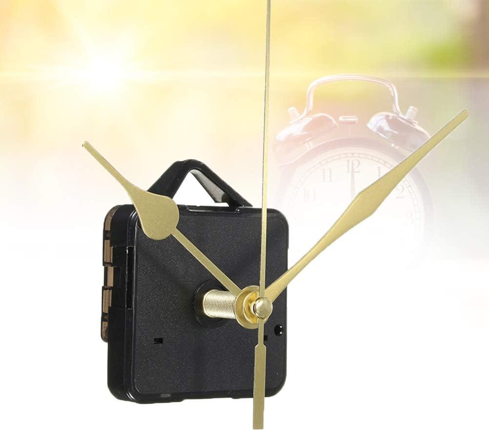 Ersatz f/ür Baum mit Langer Welle Uhrwerk f/ür Wanduhr ohne Batterie Gold 3 H/ände leise DOITOOL Uhrwerk Quarz