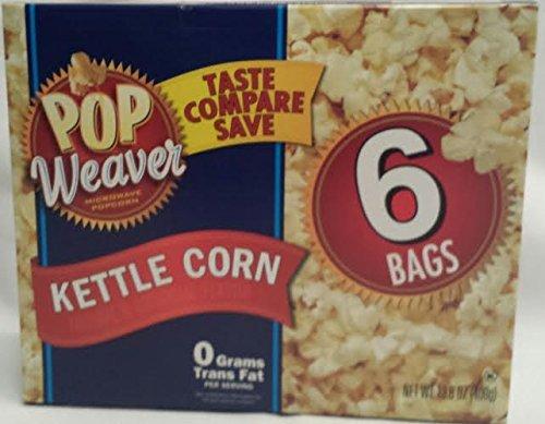 (Pop Weaver Microwave Popcorn Kettle Corn 6 Bags)
