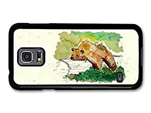 Hu Xiao Bear Resting on a Trunk Tree Wildlife Animal 5MsqakHC7wC Watercolour Art case cover for Samsung Galaxy S5 mini