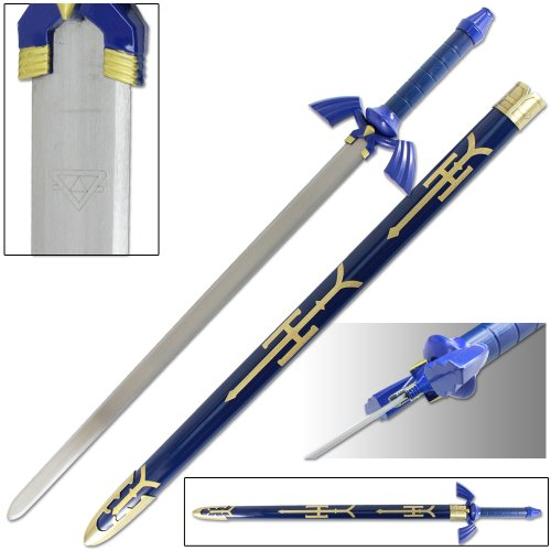 Legend of Zelda Link Master Sword of Time - Real Carbon Steel Version (Costume Role Playset)