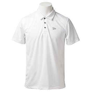 cf4bab82698a1 ニューエラ ゴルフライン 半袖シャツ・ポロシャツ GOLF 鹿の子半袖ポロシャツ ホワイト XL