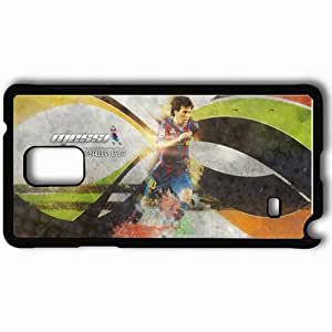 Personalized Samsung Note 4 Cell phone Case/Cover Skin Amazing original messi by im omar Black