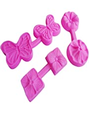QUICKLYLY 3D Moldes de Postre/Pastel/Galleta/tartas y bizcochos Formas De Silicona