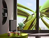 Window Mural Stunning Green Style window sticker window film window tattoo glass sticker window art window décor window decoration Dimensions: 75.6 x 56.7 inches