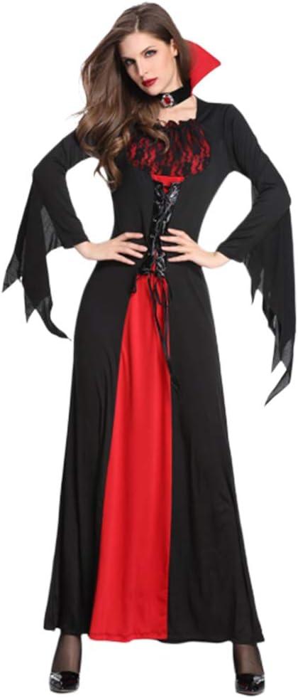 Disfraz De Halloween Mujer Adulto Mago Reina Disfraz Capa Juego De ...