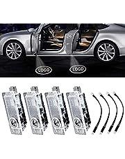 4Pcs LED Car Logo Lights Ghost Light Door Light Projector Welcome Accessories Emblem Lamp For BMW M Compatible(BMW)