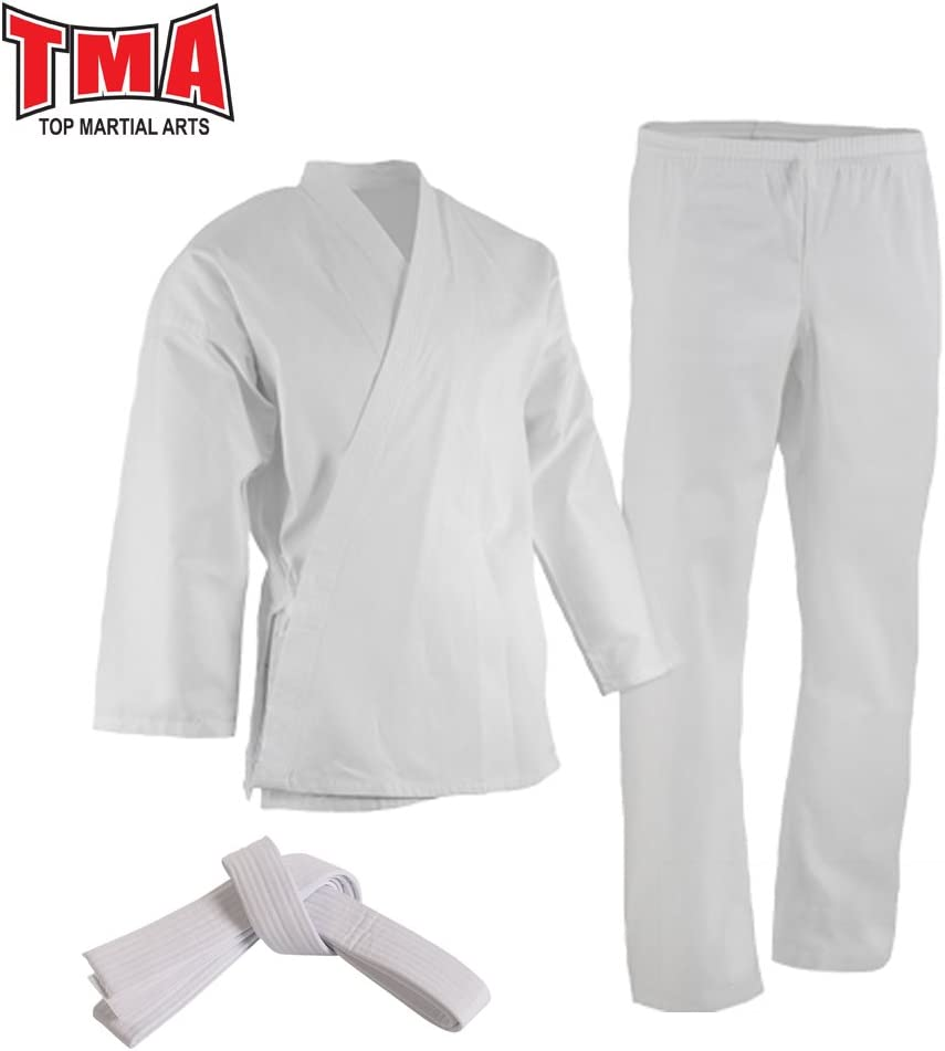 TMA 12 oz Extra Heavyweight Brushed cotton Drawstring Uniform Karate Gi