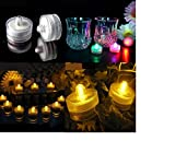 H.YOUNG Waterproof LED Battery Sub Tea Light For Party Wedding RGB(Changing color) 12PCS Pack