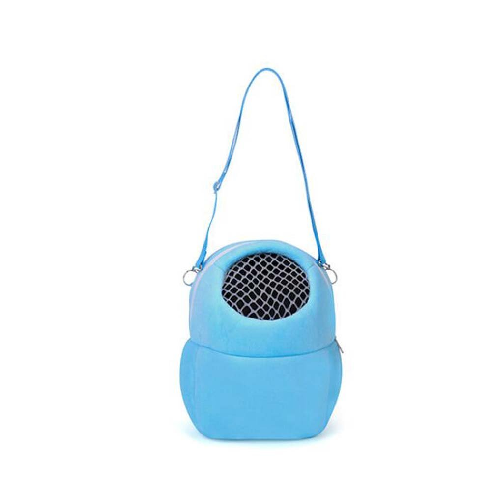 ANONE Hamster Carrying Bag,Portable Outgoing Pet Small Animal Carrier Cage for Hamster Hedgehog Rats Chinchilla Guinea Pig Blue