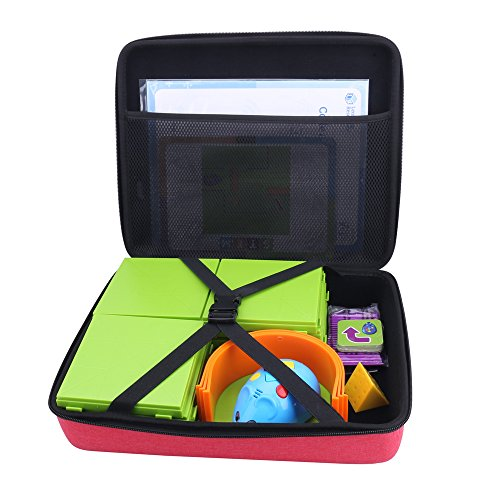 Storage Organizer Carrying Hard Case for Code and Go Robot Mouse Activity Set by Aenllosi (Red)