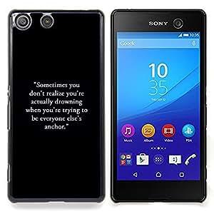 - inspirational motivational text black - - Modelo de la piel protectora de la cubierta del caso FOR Sony Xperia M5 RetroCandy