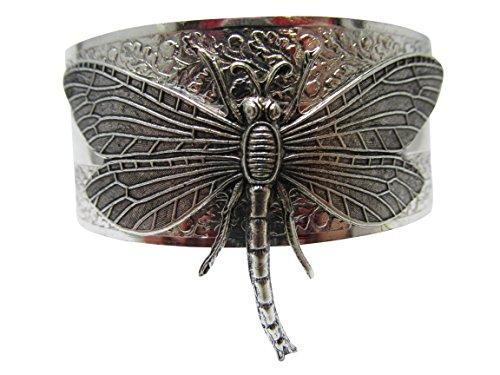Dragonfly bracelet dragonflies jewelry cuff bangle vintage bracelet - Silver Dragonfly Bracelets