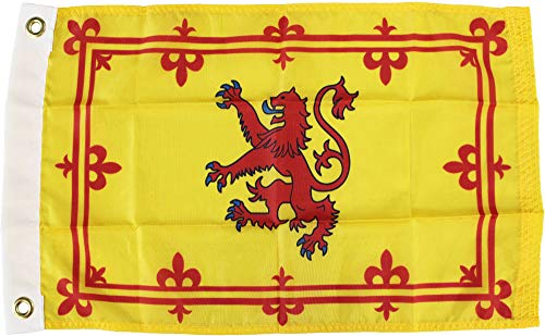 Scotland (Rampant Lion) – 12″ x 18″ Nylon World Flag For Sale