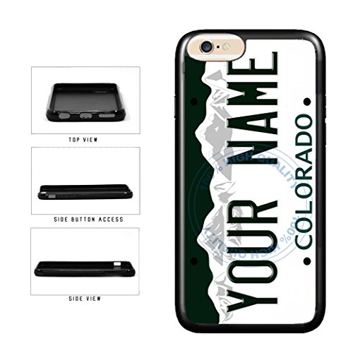 BleuReign(TM) Personalized Custom Name Colorado State License Plate TPU Rubber Silicone Phone Case Back Cover for Apple iPhone 8 Plus and iPhone 7 ()