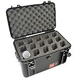 MyCaseBuilder 15 Mic Custom Designed Padded Foam Insert HPRC 4100 Carrying Case - Lightweight Waterproof Crushproof Hard Case with Foam Fits 15 Microphones for Safe Travel, Storage & Transportation