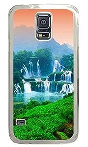 Samsung Galaxy S5 Three tier Waterfall PC Custom Samsung Galaxy S5 Case Cover Transparent
