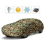 #4: Audew Camouflage Car Cover All Season Waterproof/Ultraviolet-proof Sedan Cover Camo Auto Cover Fits Sedans (200''Lx67''Wx47''H)