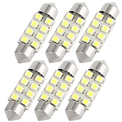 Amazon.com: eDealMax 6 piezas DE 36 mm 8 SMD 3528 LED Blanco Adorno de la lámpara Mapa Luz Interna 3021: Automotive
