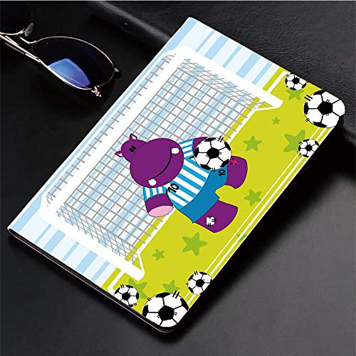 Compatible with iPad 2/3/4 Case,Soccer Goal Keeper Football Cartoon Print,Apple,Slim Anti-Scratch Shell Auto Sleep/Wake,3D Printed Protection Apple iPad 9.7