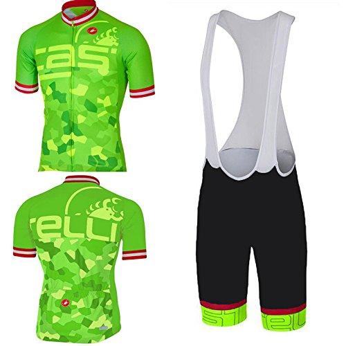 Guerbrilla 2017 Trek Team Men's Short Sleeve Cycling Jersey and Bib Shorts Set (Large)